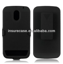 Black Rubberized Stand Stander Belt Clip Cover+Hard Back Case Cover For Samsung Galaxy nexus/Droid Prime/I515/I9250