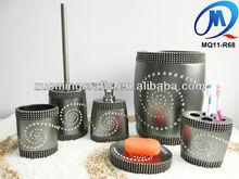 Diamond resin bathroom accessories set for home decoration