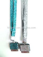Hot selling rhinestone bling badge holder lanyard