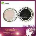 Plegable mini pelo del cepillo y espejo