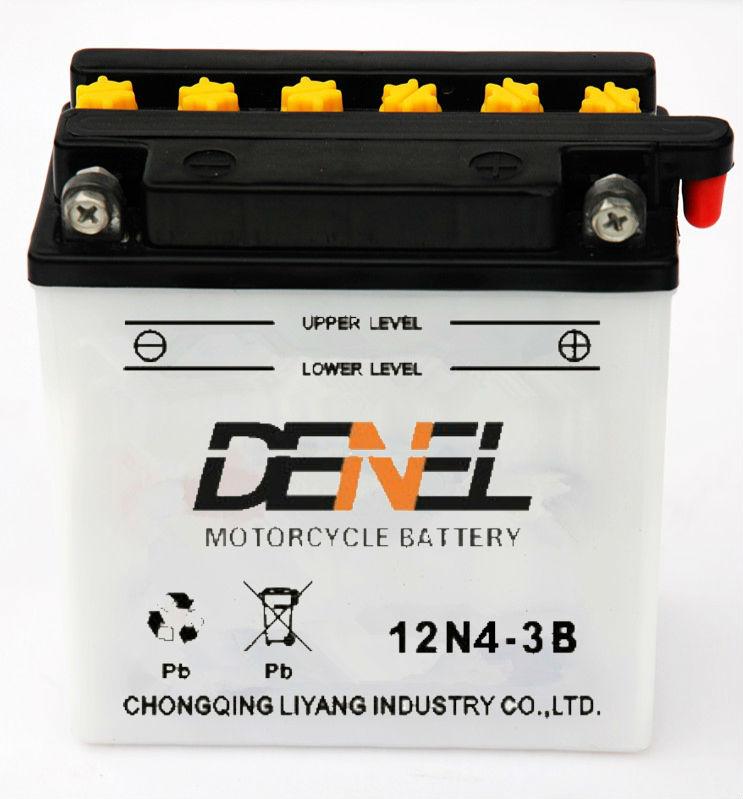 12v4ah china E Bikebattery lead acid Motorcycle auto battey manufacturer