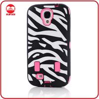 Black Hot Pink Hybrid Defender Zebra Case for Samsung Galaxy S4 i9500 S IV