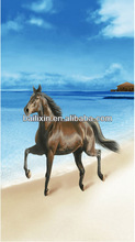 running horse beach towel