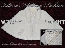 Fur bridal capes & stoles with warm lining