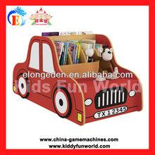 Chidren favorite furniture fire truck bookshelf kids wooden bookshelf