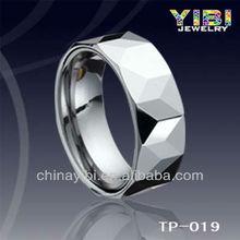 Brand New Mens White Diamond Cut Tungsten Carbide Wedding Ring Band Fashion Jewelry