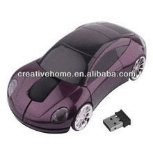 2.4GHz Wireless Car Style Optical Mouse with USB Mini Receiver, Plug and Play, Working Distance up to 10 Meters
