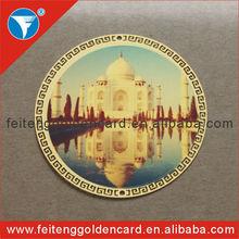 India Taj Mahal 4 color printing metal label tag for high quality