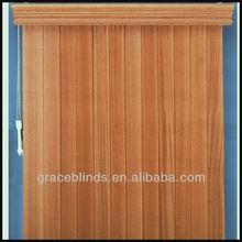 tilo 89mm aluminiumheadrail listones con 63mm guardamalleta de madera de la ventana de persianas verticales