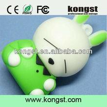 innovative usb pen drive 4gb u disk/lovelty cartoon usb flash drive wholesale/cute rabbit shape pvc usb flash memory stick