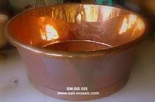Bath tub, copper, round