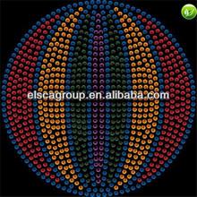 baseketball shape hot fix rhinestone motif
