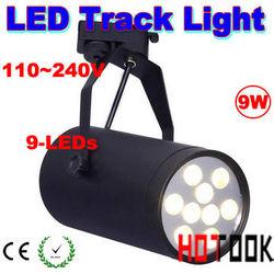 9W LED Track Light Rail Stand Lamp Lighting 110~240V