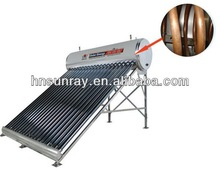 Cooper pipe solar water heater