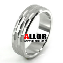 Fashion Shiny Polish Stainelss Steel Faceted Design Rings