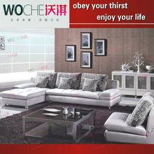 air o space sofa bed cheap furniture corner leather sofa(WQ6815)