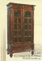 Java Antique Cabinet W/pillard
