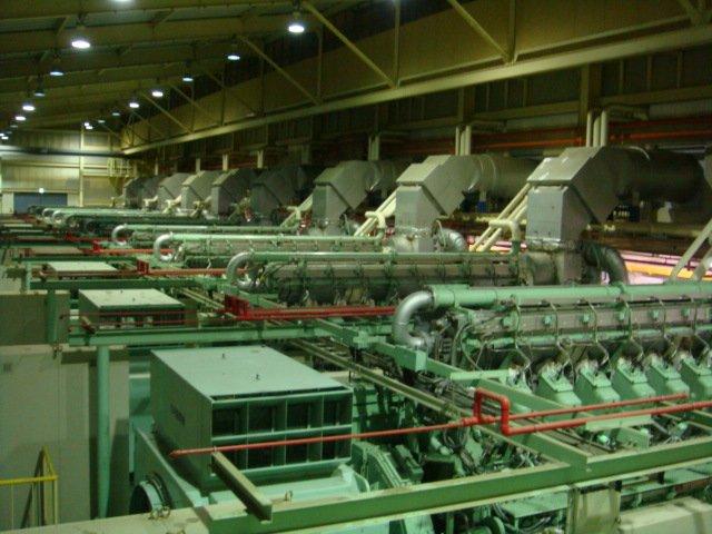 USED POWER PLANT (POWER STATION) OF MITSUBISHI GAS ENGINE GENERATOR 57MW