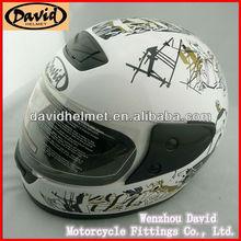David decals for motorbikes helmets D805