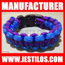 2013 latest design handmade team paracord survival bracelet