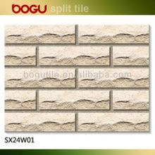 60x240mm moutain split red clay tile stone splitting