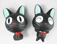 Black cat doll doll chuck furnishing articles Wholesale Anime Gifts PVC Figure A set of two