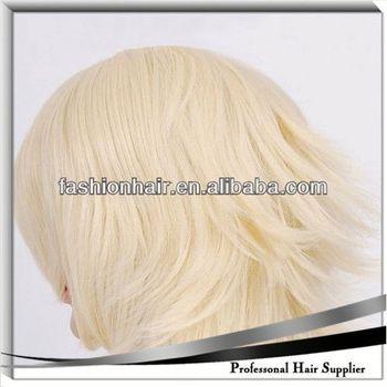 2014 Cheapest Fashion Cosplay wig,Football fans wig,Human hair mixed grey wig