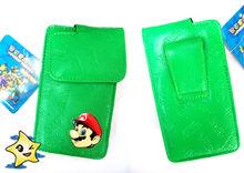 Super Mario Bros Anime Wholesale Popular Fresh Green Leather material Phone Bag