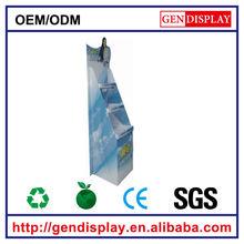 GEN-FD026 cheapest customized cardboard floor display rotating