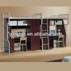 Brown Wood Metal Adult Commercial Bunk Beds