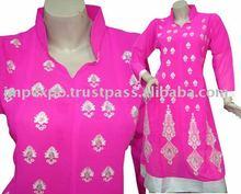 Ladies Fashion wear Frock ( Front Embroidery ), 3 Pcs Suit (Item No.IMPEXPOLADIES784)