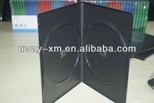 UW-DVD-168 7mm black auto machine packing dvd case for doubel disc