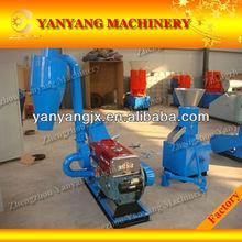 Diesel-driven motor Wood crusher machine+dust colletor