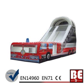 Inflatable Fire Truck Slide Bouncer Slide Combo