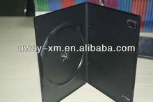 UW-DVD-171 7mm black auto machine packing dvd case for single disc