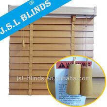 Make elegant brown color 1 inch 1.5 inch 2 inch slats outdoor wooden blind