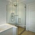 dusch sauna esterna in vetro della porta