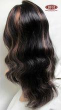 Elegant cheap lace front human hair wigs white women