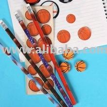 Basketball Stationery Set for Boys, Pencil + Eraser + Sticker, Great stationery - Basic School Supplies
