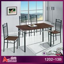 1202-13B Simple elegant design Japanese wood fast food dining tables