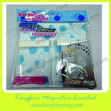Printed back office transparent magnetic pocket