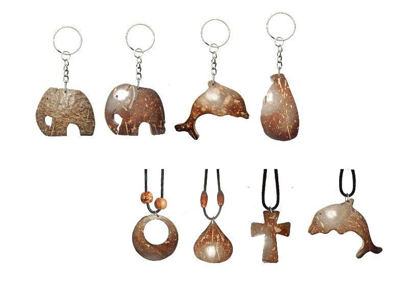 Coconut Shell Keytags