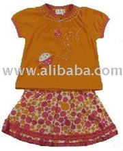 fabric leather fur baby Infant C'est La Vie Little Girls Polka Dot Ladybug Skort Set bibs Toddlers Clothing dresses baby sleepin