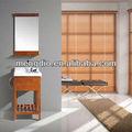 moderno piso montado madeira de borracha sólida armários de banheiro