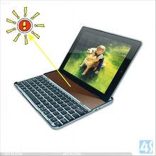 2013 New Arrival Solar Panel Charge Bluetooth Aluminum Keyboard for ipad 2/3/4 Wireless Keyboard --P-BLUETOOTHKB022