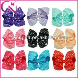 wholesale polk dot girls bows for hair CNHBW-1307164