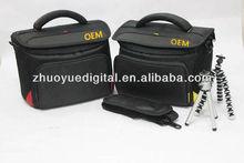 camera+2 lens DSLR camera bag D7000 camera case for Nikon