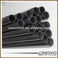 De alta calidad de la textura de la superficie de brillo 4*8 3k tejido de fibra de carbono tubo