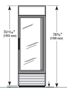 True GDM Series - Glass Door Merchandiser, Swing Door Refrigerator