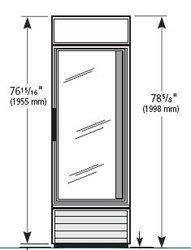 True GDM Series - Glass Door Merchandiser, Swing Door Refrigerator